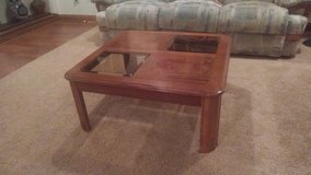 Maple Wood and Glass Coffee Table in Joliet, Illinois