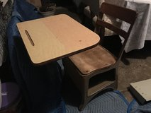 Vintage student desk in Morris, Illinois
