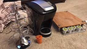 Keurig Vue w/ carousel, converter cup, and wooden stand carrier in Sacramento, California