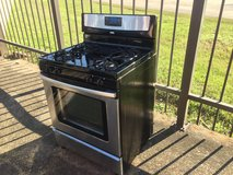 Whirlpool stainless steel gas range in Tomball, Texas
