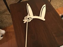 Wooden Bunny Ears in Naperville, Illinois