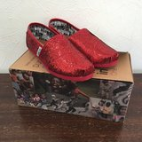TOMS - Red Glitter - Child SZ 12.5 in Okinawa, Japan