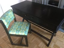 Coaster Desk with Vintage Chair in Ramstein, Germany