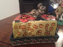 Polish Pottery Cheese Holder in Wiesbaden, GE