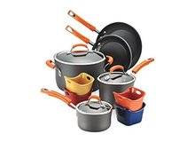 Rachael Ray Hard-Anodized Nonstick 12-Piece Cookware Set in Ramstein, Germany