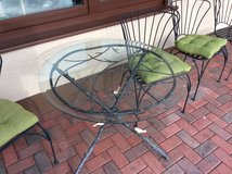 Glass Patio Table and 6 Chairs in Ramstein, Germany