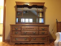 Solid oak dresser in good condition in Chicago, Illinois