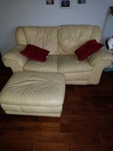 Yellow leather love seat w/ ottoman and couch in Camp Pendleton, California
