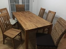 Solid oak table with chairs in Ramstein, Germany