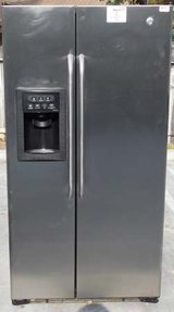 25 CU. FT. GE SIDE- BY- SIDE REFRIGERATOR- STAINLESS STEEL(FINANCING) in Oceanside, California