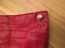 Genuine Coach red leather gloves (never worn!) in Ramstein, Germany
