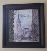 26x26 New York City Framed Bronze Painting in Warner Robins, Georgia
