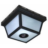 Hampton Bay 360 Degree Square 4-Light Black Motion Sensing Outdoor Flush Mount in New Lenox, Illinois