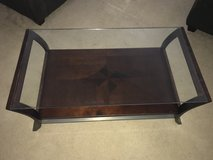 Glass/wood coffee table in Travis AFB, California