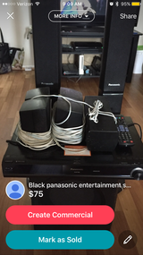 Panasonic bluray surround sound with wires in Camp Pendleton, California