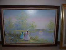 OIL PAINTING LADIES IN THE FIELD/ LRG 41 X 30/ SIGNED in Morris, Illinois