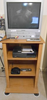 """20"""" color TV-with DVD  VCR, RADIO- and   TV stand -wood in Dickson, Tennessee"""