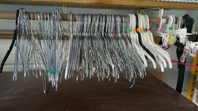 Clothes hangers in Fort Polk, Louisiana