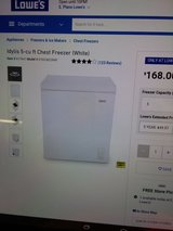 Idylis 5 cubic freezer barely used -ice cold in Fort Polk, Louisiana