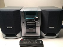 Philips MC118 CD Micro Sound System w/ Digital CD/ Cassette/ Tuner and Remote in Columbus, Georgia