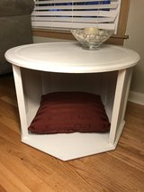 Upcycled end table in Chicago, Illinois