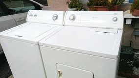 WHIRLPOOL WASHER AND ELECTRIC DRYER in Camp Pendleton, California
