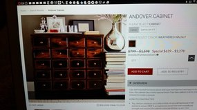 "Pottery barn ""Andover cabinet"" in Travis AFB, California"