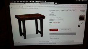 "Pottery barn ""Griffen reclaim wood"" end tables in Travis AFB, California"