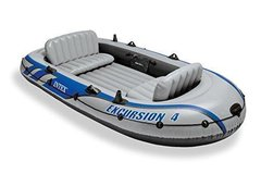 Intex Excursion 4, 4-Person Inflatable Boat Set with Aluminum Oars NEW IN BOX in Hopkinsville, Kentucky