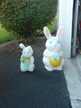 Big And Little Easter Bunny Blow Mold in Chicago, Illinois