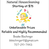 all natural house cleaning in Fairfield, California
