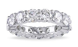 ***TODAY ONLY***BRAND NEW***6 CTTW C Z Eternity Band in 18K White Gold***SZ 8 in Houston, Texas