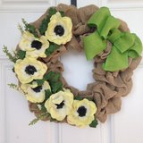 Daisy Burlap Wreath - New Low Price in Beaufort, South Carolina