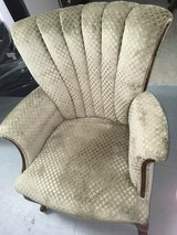 Mid Century newly upholstered sofa chair in Houston, Texas