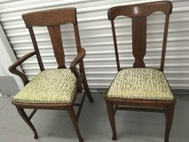 2 Antique newly upholstered chairs in Houston, Texas