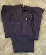 men's blue trousers dscp by tennessee apparel 30R - Like NEW in Travis AFB, California