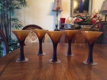 Decorative Martini Glasses (5) in Houston, Texas