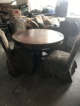 Dining room Table Round with 4 Chairs in 29 Palms, California