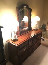 10 Piece Solid Wood California King Bedroom Set With Canopy in Lockport, Illinois