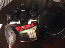 Canon rebel XS EOS with 18-55 lens and 75 -300  and bag  works excellent excellent condition in 29 Palms, California
