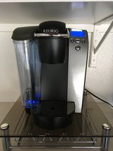 Keurig B70 Platinum Brewing System with glass stand kcup holder in Schofield Barracks, Hawaii