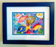 Deep Blue Framed Underwater Print with Matting in Wilmington, North Carolina