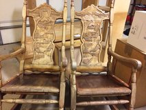 Rocking chairs in Fort Drum, New York