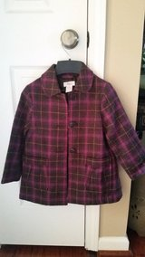 Girls Brown/Pink Plaid Coat, Size 4T in Clarksville, Tennessee