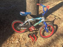Child's Avengers bicycle in Camp Lejeune, North Carolina