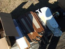 3 ceiling fans w/extra blades parts lot in Camp Lejeune, North Carolina
