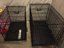 Small Dog Crate and dog leashes in Joliet, Illinois