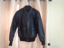 Men's Leather Pilot Jacket Size Large New Never Worn in Cherry Point, North Carolina