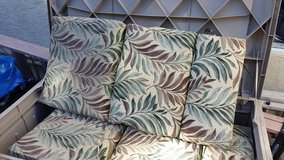 Outdoor seating cushions, 6 total, full sized in Vista, California