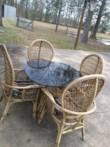 Wicker Bamboo Patio Set in Baytown, Texas
